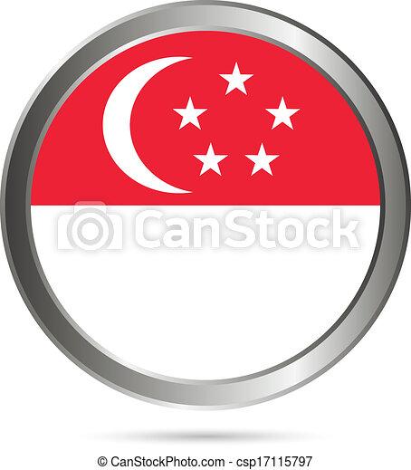Singapore flag button. - csp17115797