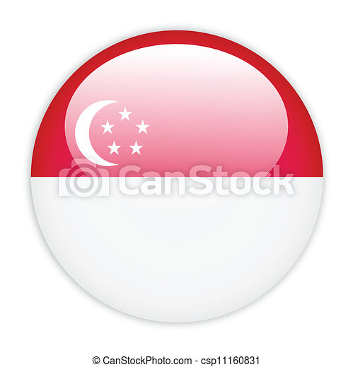 Singapore flag button - csp11160831