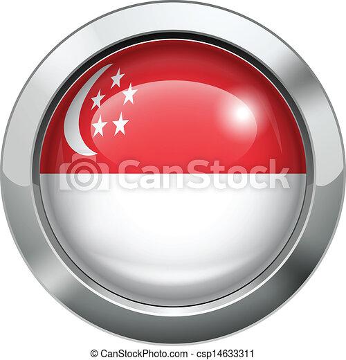 Singapore flag metal button - csp14633311