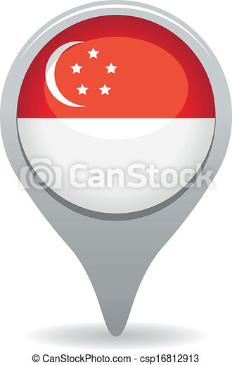 singapore flag pointer - csp16812913