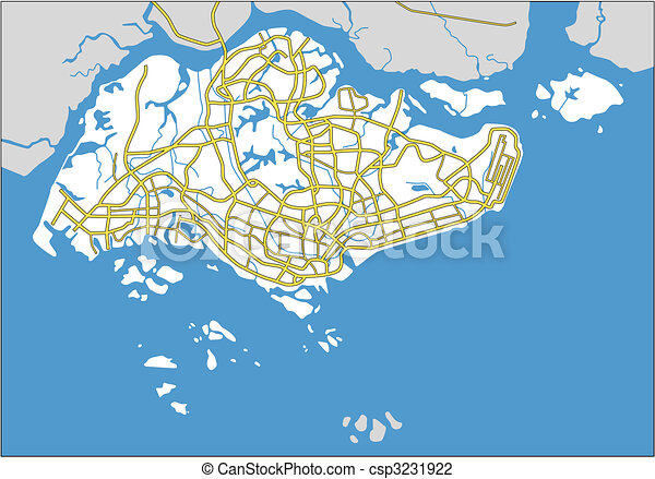 Singapore Vector map of singapore vector illustration Search