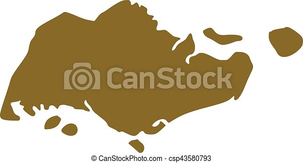 Singapore Map Eps Vectors Search Clip Art Illustration - Singapore map vector