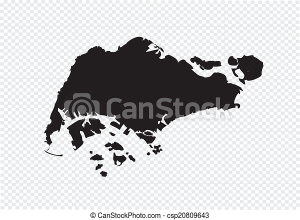 EPS Vector Of Singapore Map Csp Search Clip Art - Singapore map vector