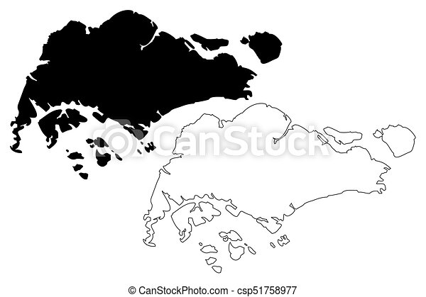 Singapore Map Vector Illustration Scribble Sketch Singapore - Singapore map vector