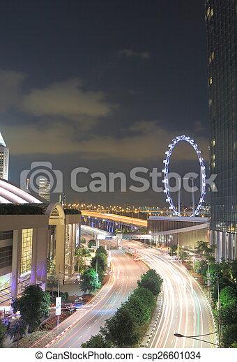 El tráfico de Singapur y Singapur vuelan - csp26601034