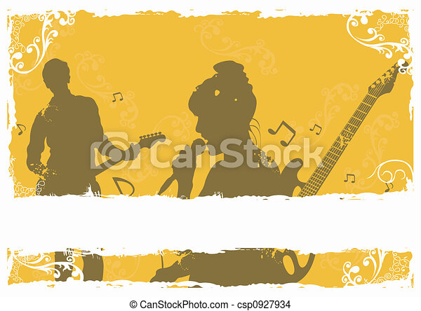 Singer and guitarist - csp0927934