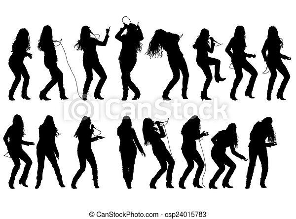 Singer rock women - csp24015783