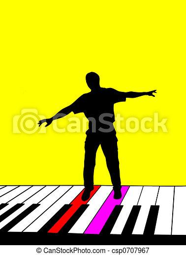 Singer Silhouette - csp0707967