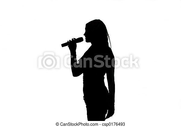 Singer Silhouette - csp0176493