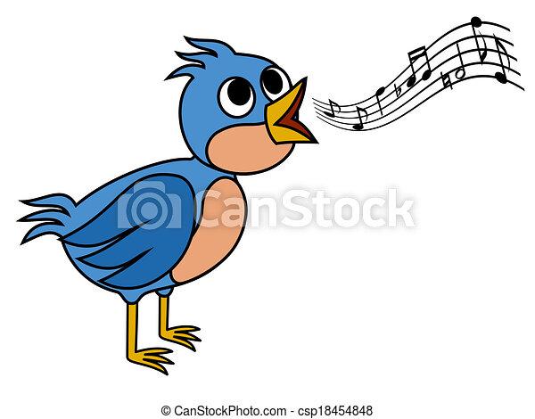 Singing bird - csp18454848