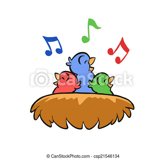 singing birds in nest singing baby birds in bird s nest rh canstockphoto com baby bird clipart black and white baby bird clipart