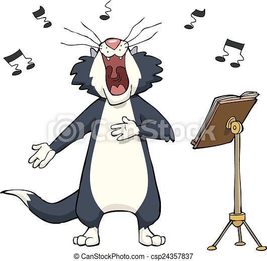 Singing cat - csp24357837