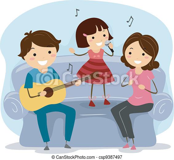 Singing Family - csp9387497