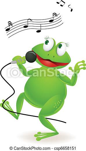 Singing frog - csp6658151