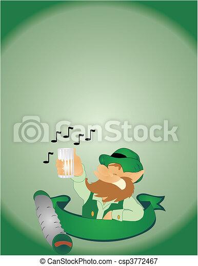 Singing on St Paddys Day - csp3772467