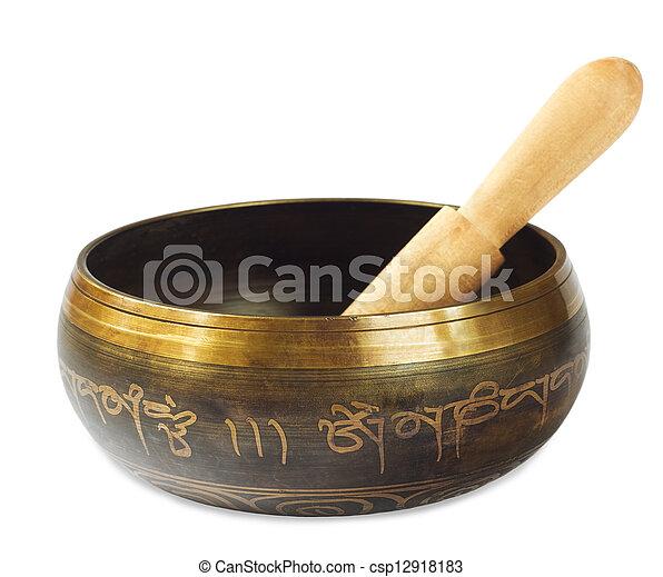 Singing Tibetan bowl - csp12918183