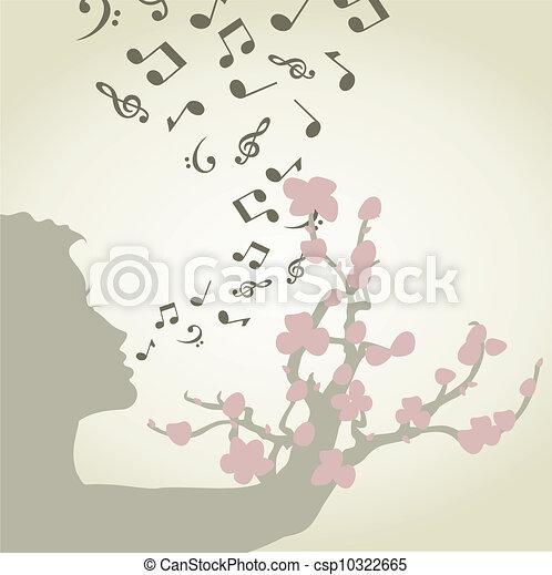 Singing woman - csp10322665