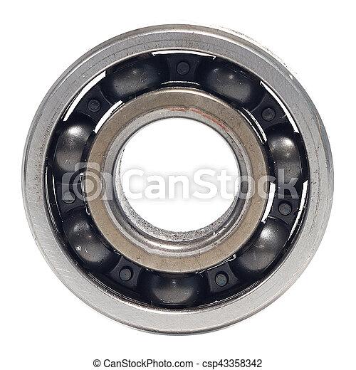 Single bearings isolated on white background - csp43358342