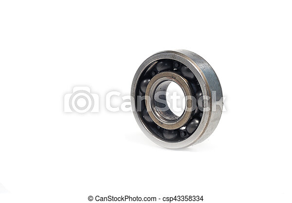 Single bearings isolated on white background - csp43358334