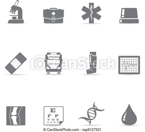 Single Color Icons - More Medical - csp9127531