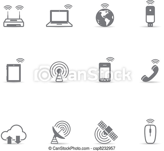 Single Color Icons - Wireless World - csp8232957