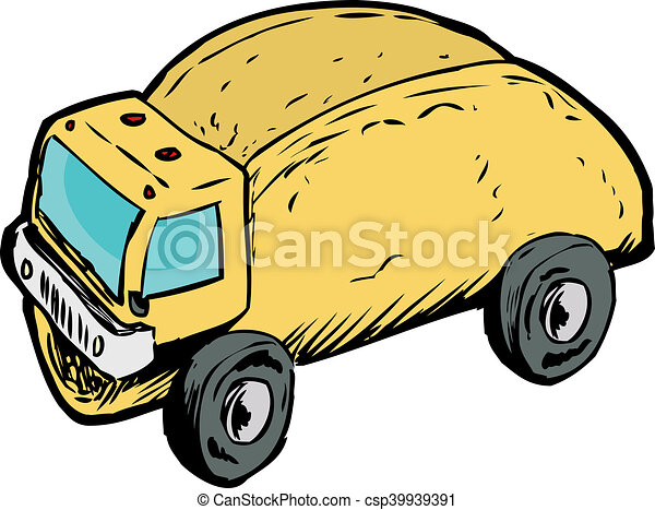 single empty taco dump truck drawing funny wordplay of stock rh canstockphoto com dump truck clipart png dump truck clip art black white