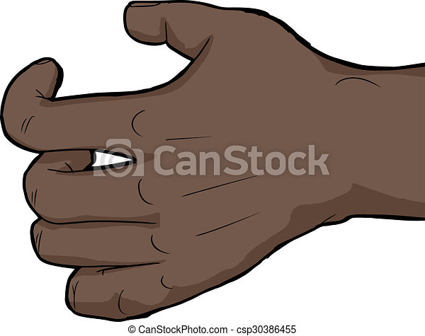 single grabbing hand single human hand holding nothing over white
