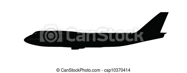 Single large aircraft silhouette - csp10370414