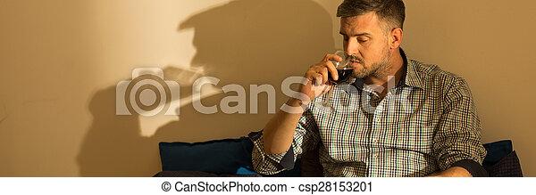 Single man is addicted - csp28153201
