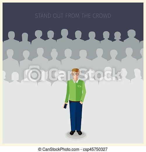 single man standing outside
