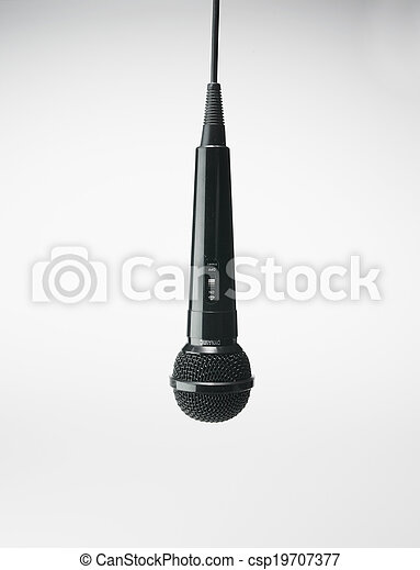 Single Microphone Hanging - csp19707377
