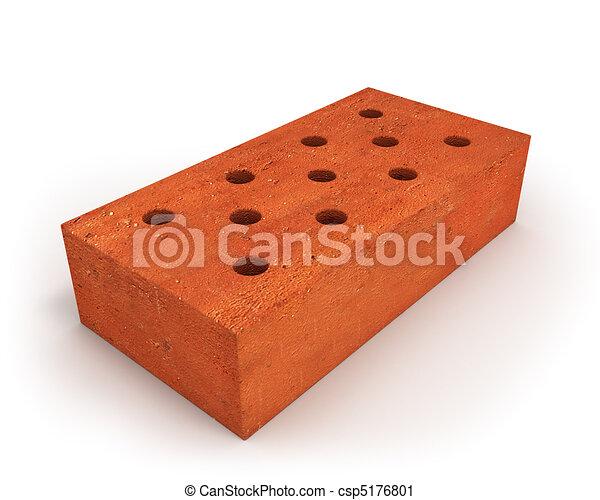 Single orange brick - csp5176801