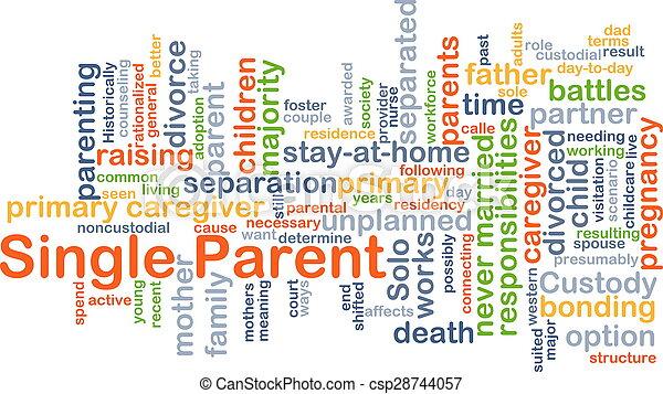 Single parent background concept - csp28744057