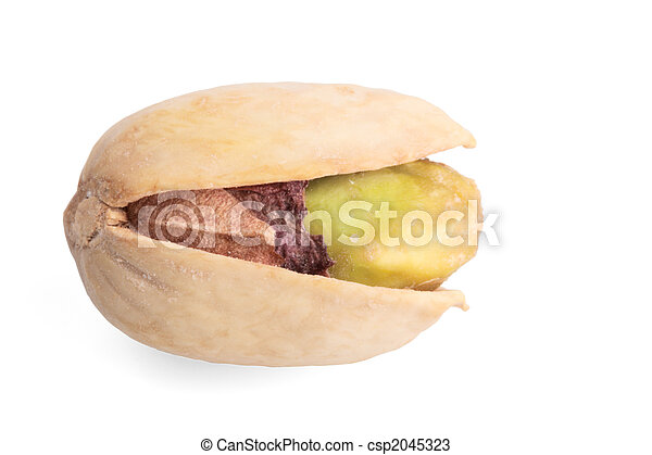 Single pistachio nut isolated - csp2045323