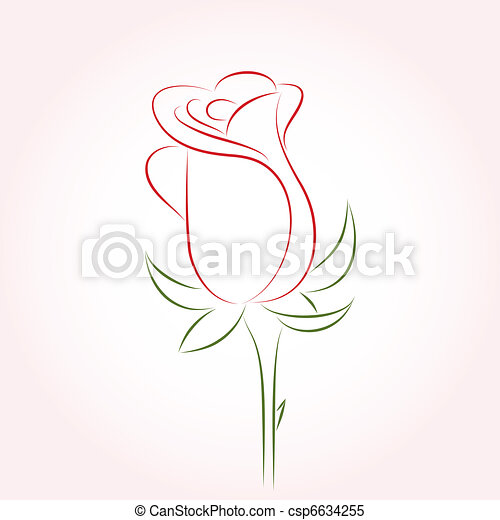 Single Rose Drawing Simple