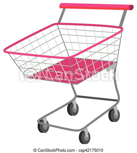 Single shopping cart with wheels - csp42175010