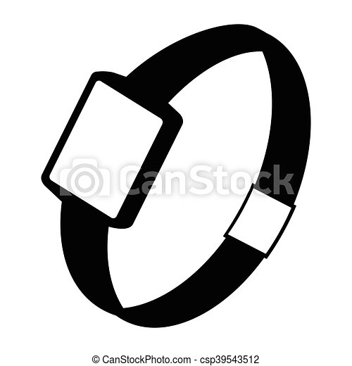 Single watch gadget icon, vector illustration over white - csp39543512