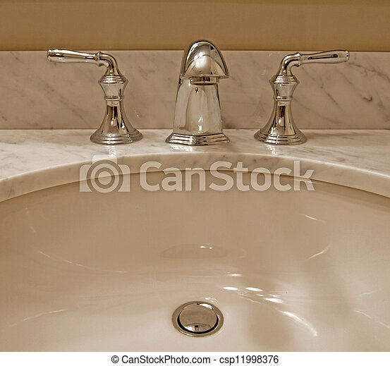 Sink and taps - csp11998376