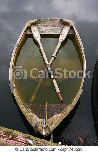 sinken, rowboat - csp4740538
