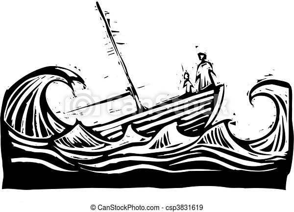 sinking boat boat with woman and child sinking in the waves rh canstockphoto com shipwrecked vbs clipart shipwrecked clip art and resources