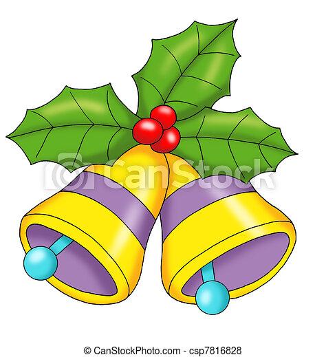 sinos natal natal colorido ilustração sinos
