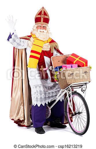 sinterklaas, велосипед - csp16213219