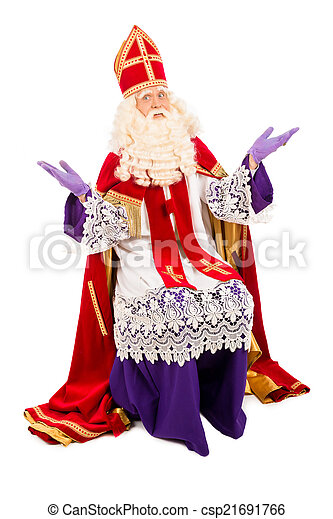 Sinterklaas on white background - csp21691766