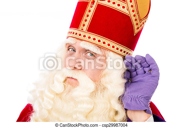 Sinterklaas on white background - csp29987004