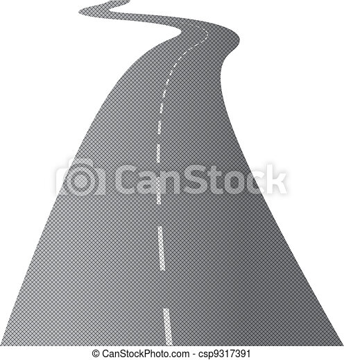 sinuosità, strada lunga - csp9317391