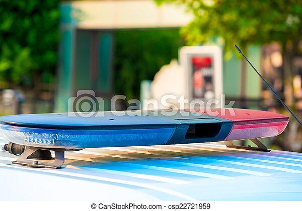 siren of a police car close-up - csp22721959