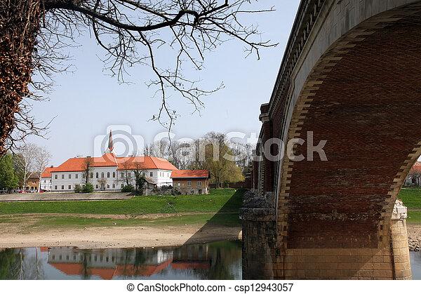 Sisak city in continental Croatia - csp12943057