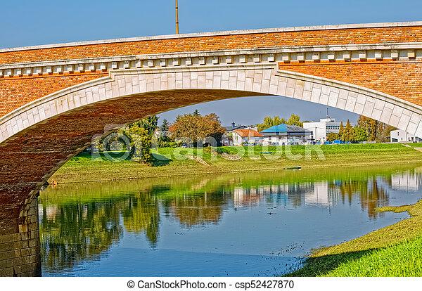 Sisak old bridge - csp52427870
