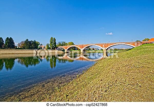 Sisak old bridge - csp52427868