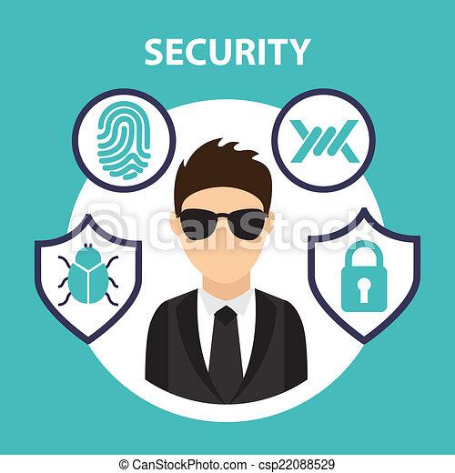 sistema segurança - csp22088529